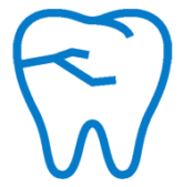 Blue cosmetic tooth icon