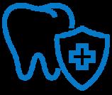 Blue restorative tooth icon